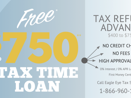 $750 Refund Advance is Free to You