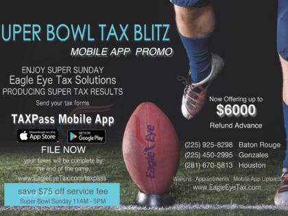 Super Bowl Sunday at Eagle Eye Tax Solutions